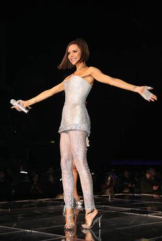 ACCESS *** Victoria Beckham of the Spice Girls perform on stage during The Return of Spice Girls World Tour at the O2 Arena on January 04 2008 in...