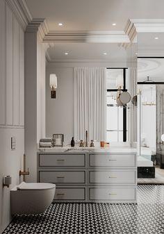 Classic Interior, Double Vanity, Interior Design, Luxury, Bathrooms, House, Modern, Quartos, Attic Rooms