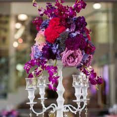 A Modern Purple Wedding