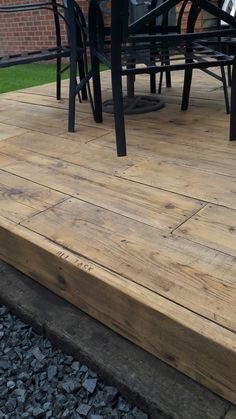 Scaffold board garden decking