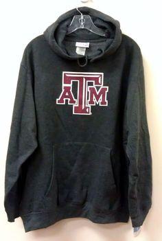 Just $29.99 & FREE SHIPPING!!! NEW/NWT Texas A&M Hoodie / Sweatshirt - Gray - Asst Sizes NCAA Hand Warmer #Majestic101 #TexasAMAggies