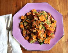 Sweet potato salad is a great way to have your delicious, potato-y carbohydrates while secretly incorporating fiber and vitamin A into your potluck picnic