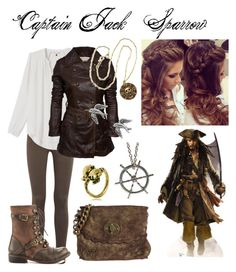 """Disney inspired- Pirates of the Caribbean- Captain Jack Sparrow"" by jeweleethegeek on Polyvore featuring rag & bone, Rebecca Taylor, Jewel Exclusive, ZIGIgirl, Alcozer & J, CUPLÉ, VeraMeat, women's clothing, women and female"