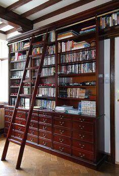 the old sawmills - bespoke wooden furniture  bookcase ladder