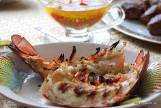 Омары или креветки с эстрагоново-лимонным соусом