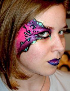 Mardi Gras Face Painting.
