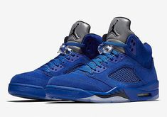 1dc98955e028ec Details about Air Jordan 5 Retro Blue Suede Game Royal Black 136027-401  Mens New