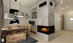 Dom Falenica 150 m2 styl nowoczesny - Średnia otwarta jadalnia w salonie, styl nowoczesny - zdjęcie od Grafika i Projekt architektura wnętrz