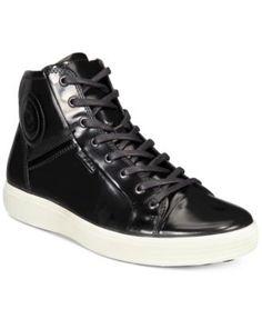 79e5a6d9e8 Ecco Men s Soft 7 Patent High-Top Sneakers   Reviews - All Men s Shoes - Men  - Macy s
