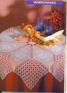 Красивые скатерти крючком для уюта в доме