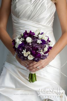 #wedding flowers #wedding bouquet #purple and white #Michigan wedding #Mike Staff Productions #wedding details #wedding photography http://www.mikestaff.com/services/photography
