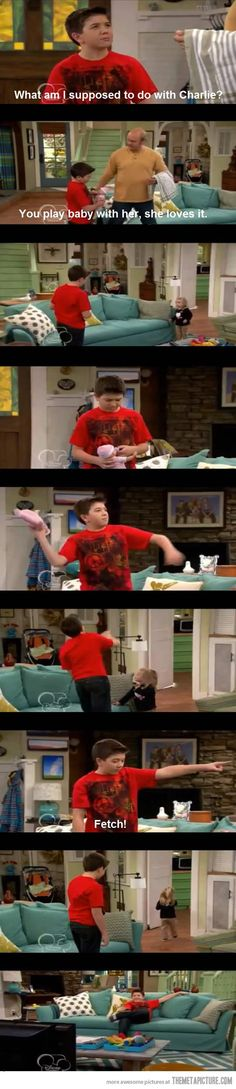 Play baby with her… good luck charlie...... XD <3