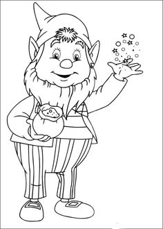 Noddy Coloring Pages 3