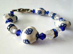 Royal Blue Bracelet by RoseyCreek on Etsy, $8.00 Pandora Charms, Royal Blue, Beaded Bracelets, Bling, Trending Outfits, Unique Jewelry, Handmade Gifts, Etsy, Vintage