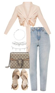 """""""Untitled #4331"""" by theeuropeancloset ❤ liked on Polyvore featuring Topshop, Castañer, Gucci, MANIAMANIA and Astley Clarke"""