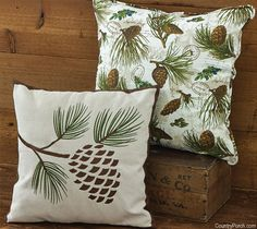 Pinecone U0026 Walk In The Woods Pillows