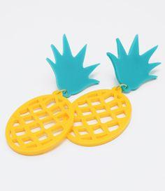 Brinco feminino Modelo divertido Formato abacaxi Marca: Accessories Material: Acrílico COLEÇÃO VERÃO 2017 Veja outras opções de brincos femininos.
