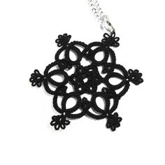 Gothic black lace pendant by Decoromana on Etsy,