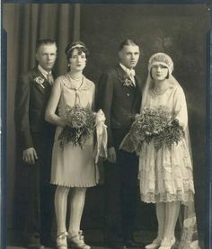 Old picture of wedding from the beginning of 20th century.