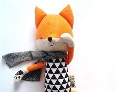 Handmade stuffed fox – Etsy
