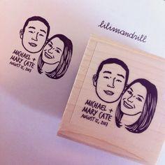 Custom Portrait Stamp @lilimandrill www.lilimandrill.fr #etsy #EtsyGifts #bachelorette #etsywedding #wedding #valentinesday #valentine #bride #diy #couple #stamp #personalizedgift #gift #weddinggift #DifferenceMakesUs #party #engagement #uniquegift