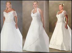 Noiva cheinha, não erre na escolha do vestido