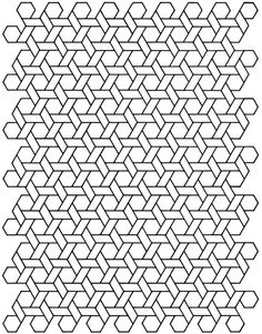 geometric tessellation with rhombus pattern coloring page | color ... - Geometric Patterns Coloring Pages