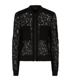 BCBGMAXARIA Lace Bomber Jacket #LaceLover  #GiftResponsibly #GlamGifting