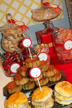 Christi Bennett uploaded this image to 'Chinese Birthday Party'. See the album on Photobucket. Chinese Birthday, Chinese New Year Food, Chinese New Year Party, New Years Eve Party, Dessert Buffet, Candy Buffet, Food Buffet, Dessert Tables, Dessert Ideas