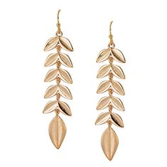 Multi Leaves Drop Earrings [EOE8137GD]  Wholesale24x7.com - Fashion Scarves and Accessories Wholesale, One Stop Wholesale Shopping for Scarves, Jewelry and Fashion Accessories!