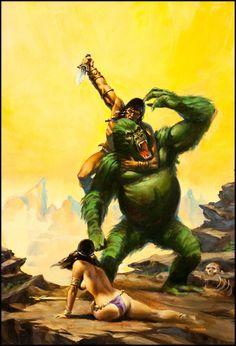 Joe Chiodo, cover art for Savage Sword of Conan #84, 1983.