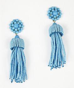 Lisi Lerch - Tassel Earrings - Turquoise, $98.00 (http://www.lisilerch.com/earrings/tassel-earrings/tassel-earrings-turquoise/)
