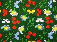 70s swedish designer vintage fabric Sven Fristedt. Scandinavian design.
