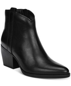 8cba113559e05 Naturalizer Fairmont Western Booties - Black Shoe Wardrobe