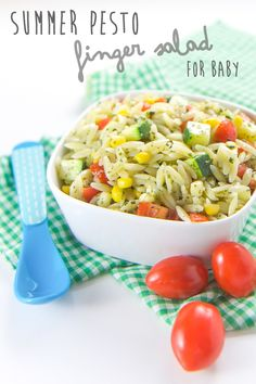 Pesto Summer Finger Salad for Baby