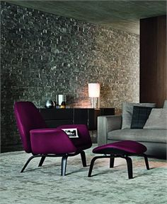 Gilliam, Minotti.....love the textures and the color combination...