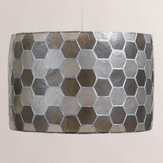 Honeycomb Capiz Drum Pendant Lamp | World Market