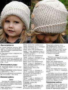 шапки вязаные спицами женские с описанием: 22 тыс изображений найдено в Яндекс.Картинках
