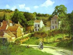 ۩۩ Painting the Town ۩۩ city, town, village & house art - Camille Pissarro