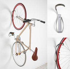 Bike Tire Tray and Wall Hook