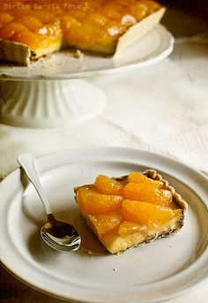 another orange tart... this one's in Spanish! Tarta de naranja | Recetas con fotos paso a paso El invitado de invierno