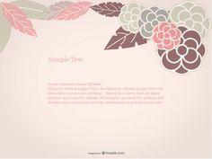 Fundo floral da rosa Vetor grátis