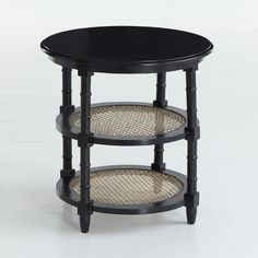 W7486 British Colonial Side Table - Black, comes in white $265