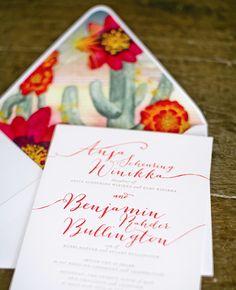 Love this envelope liner for a Tucson wedding! Desert-inspired wedding invitations from Ceci New York // Mel Barlow & Company Handmade Wedding Invitations, Wedding Stationary, Mexican Wedding Invitations, Wedding Paper, Wedding Day, Wedding Tips, Wedding Stuff, Trendy Wedding, Wedding Reception