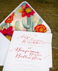 Desert-inspired wedding invitations from Ceci New York // Mel Barlow & Company
