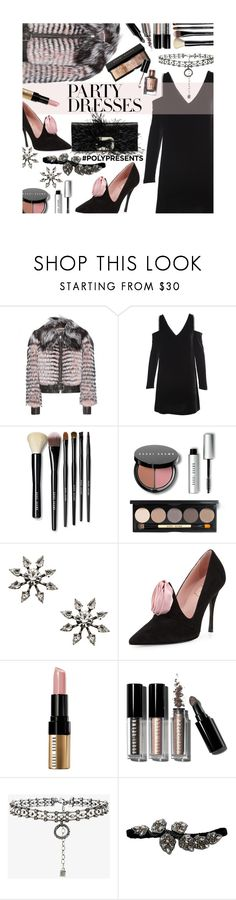 """#PolyPresents: Party Dresses"" by mia-christine ❤ liked on Polyvore featuring Alexander McQueen, McQ by Alexander McQueen, Bobbi Brown Cosmetics, DANNIJO, Roger Vivier, Lanvin, contestentry and polyPresents"