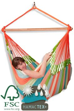 The Colombian Weatherproof Hammock Chair Lounger Domingo Coral can stay in your garden all summer! Made of HamacTex (polypropylene), which is Hammock Chair, Outdoor Furniture, Outdoor Decor, Beach Mat, Outdoor Blanket, Coral, Home Decor, Products, Domingo