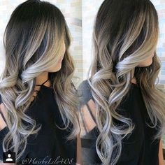 Hair Color Grey Gray Awesome Sombre