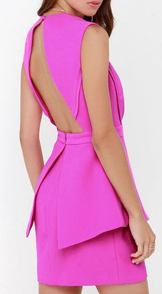 Finders Keepers Next In Line to Take a Bow Fuchsia Dress