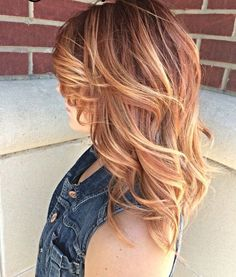 Bildergebnis für red hair with blonde highlights